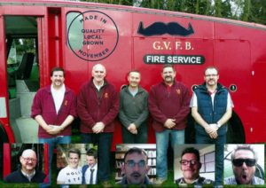 Immediate Past CO Neil Price (second from right) with his trademark handlebar 'bro-mo'. CO Darryl Foulds inset bottom right with what only can be described as 'bum fluff'